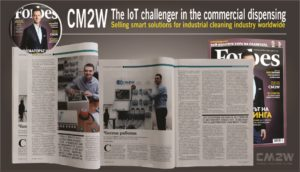 In-depth emphasis on the innovation expertise of CM2W in the field of Industrial cleaning industry smart solutions in the IoT review of Forbes Bulgaria. CM2W is the IoT challenger in the commercial dispensing, by selling wide range of smart solutions for Industrial Laundry. CM2W in Forbes Bulgaria.